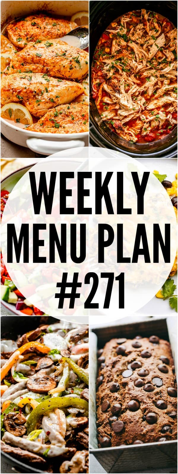 WEEKLY MENU PLAN #271 PIN IMAGE