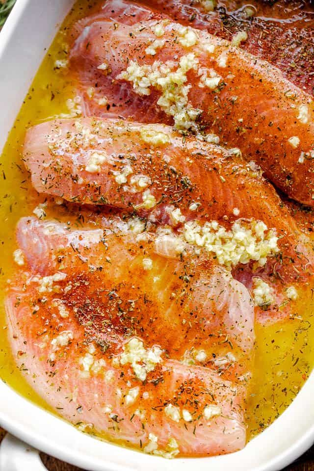 Garlic Butter Oven Baked Tilapia Recipe Diethood