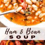 Ham and Bean Soup pinterest image