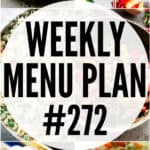 weekly menu plan 272 pinterest image
