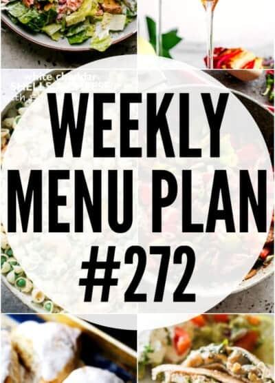 weekly menu plan 272 pinterest image