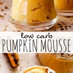 Low Carb Pumpkin Mousse pinterest image