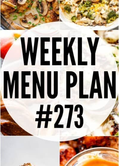 WEEKLY MENU PLAN 273 PINTEREST IMAGE