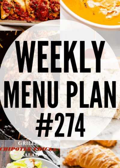 WEEKLY MENU PLAN (#274) COLLAGE PIN
