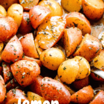 Lemon Garlic Roasted Potatoes pinterest image