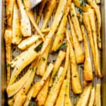 Garlic Butter Roasted Parsnips