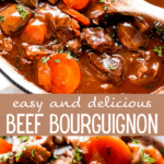 Beef Bourguignon long pinterest image