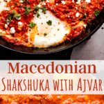 Macedonian Shakshuka with Ajvar pinterest collage