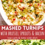 mashed turnips pinterest image
