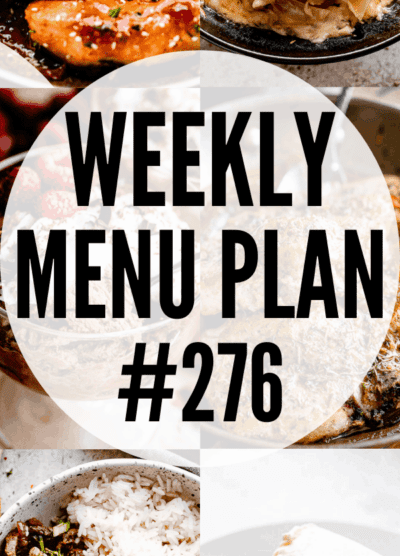 WEEKLY MENU PLAN (#276) pinterest image