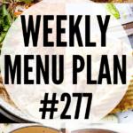 weekly menu plan collage image