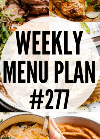 weekly menu plan collage image