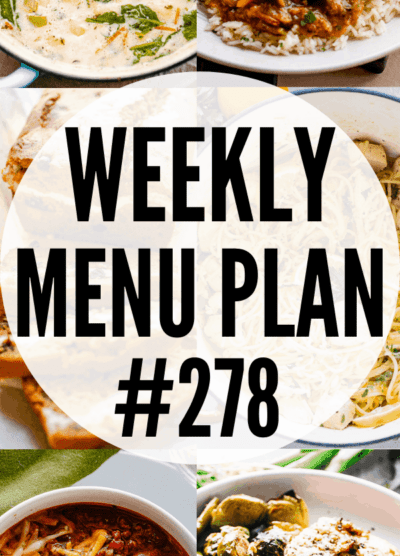 WEEKLY MENU PLAN (#278) pinterest image