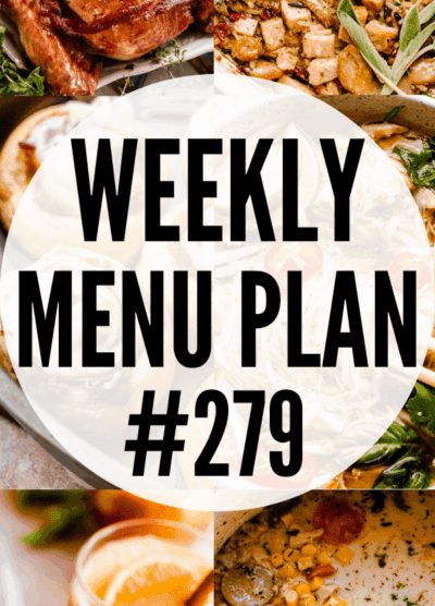 WEEKLY MENU PLAN (#279) collage pinterest image