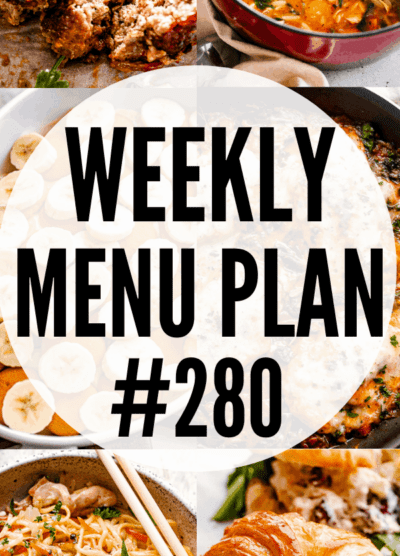 WEEKLY MENU PLAN (#280) pinterest collage image
