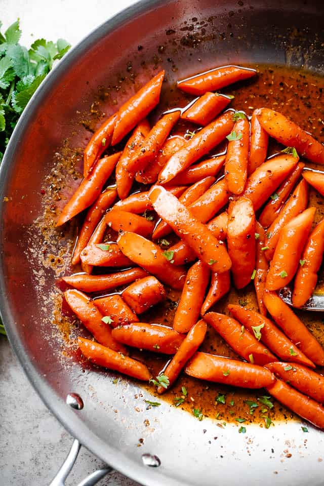 roasted carrots in cajun butter sauce