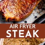 air fryer steak long pin image