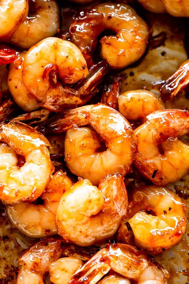 honey garlic shrimp close up picture