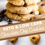 keto chocolate chip cookies long pin collage