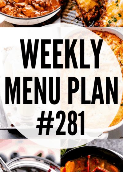 WEEKLY MENU PLAN (#281) long collage