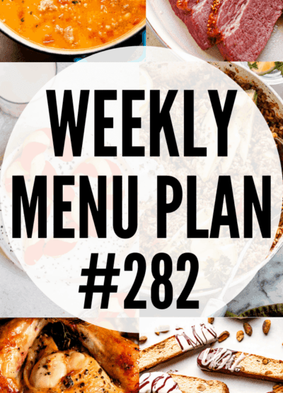 weekly menu plan 282 collage pin image