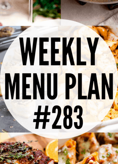 WEEKLY MENU PLAN (#283) collage pin
