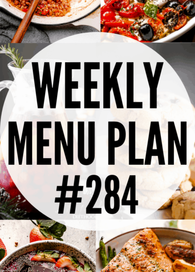 WEEKLY MENU PLAN #284 collage pin