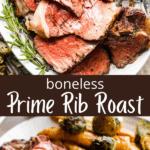 boneless prime rib two picture collage pin
