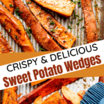 Sweet potato wedges two picture collage pin