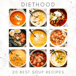 20 BEST SOUP RECIPES collage pin