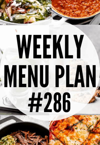 WEEKLY MENU PLAN #286 collage PIN