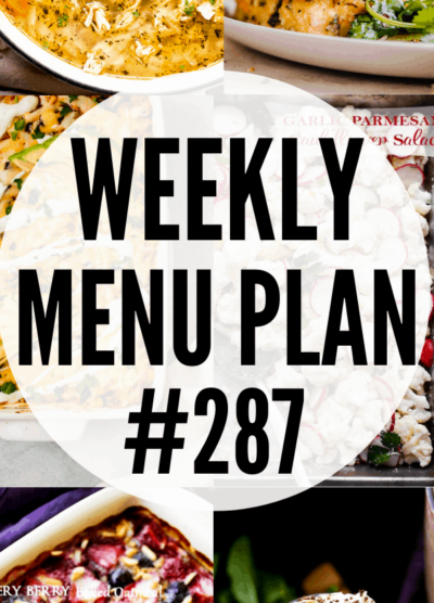 WEEKLY MENU PLAN 287 collage PIN