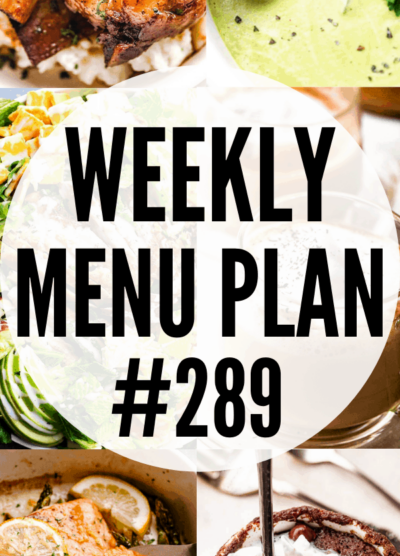WEEKLY MENU PLAN 289 pin collage