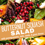 butternut squash salad two picture collage pin