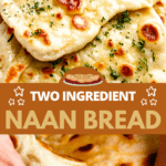 Two Ingredient Naan Bread two picture collage pin