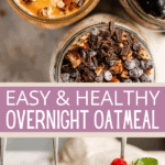 overnight oats two picture collage pin