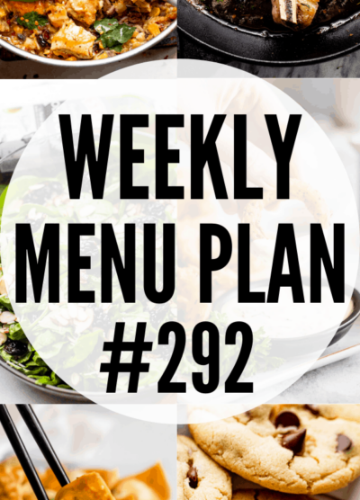 WEEKLY MENU PLAN 292 collage pin