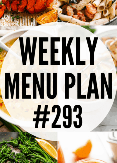 WEEKLY MENU PLAN 293 collage pin
