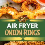 Air Fryer Onion Rings two picture collage pin