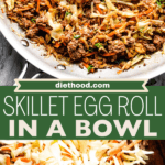 Egg Roll in a Bowl two picture collage