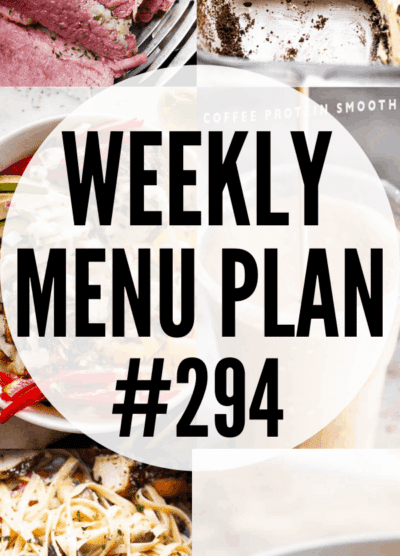 WEEKLY MENU PLAN 294 collage pin