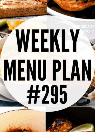 WEEKLY MENU PLAN (#295) picture collage pin