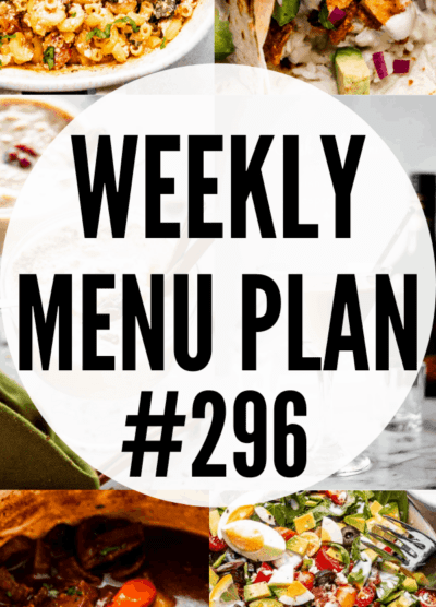 WEEKLY MENU PLAN (#296) collage pin