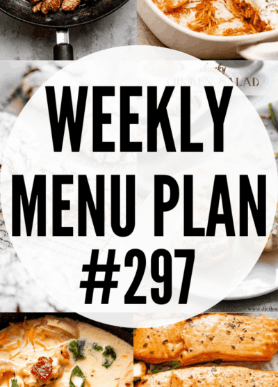 WEEKLY MENU PLAN (#297) collage pin
