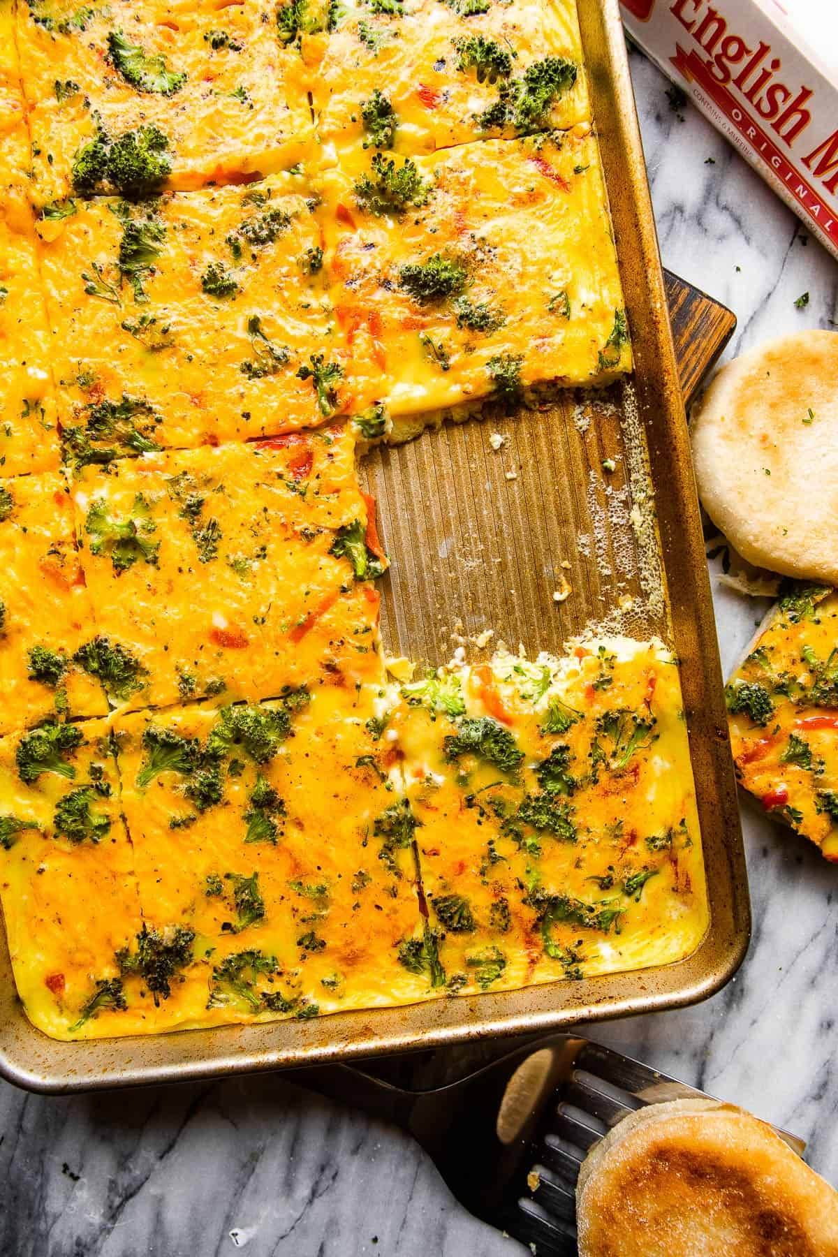 oven baked eggs on a sheet pan