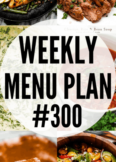 WEEKLY MENU PLAN #300 COLLAGE PIN