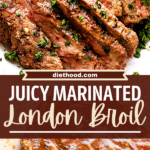 london broil two picture collage pin