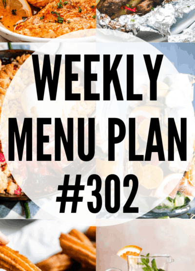 WEEKLY MENU PLAN (#302) collage pin