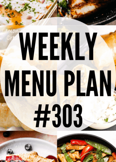 WEEKLY MENU PLAN #303 collage pin