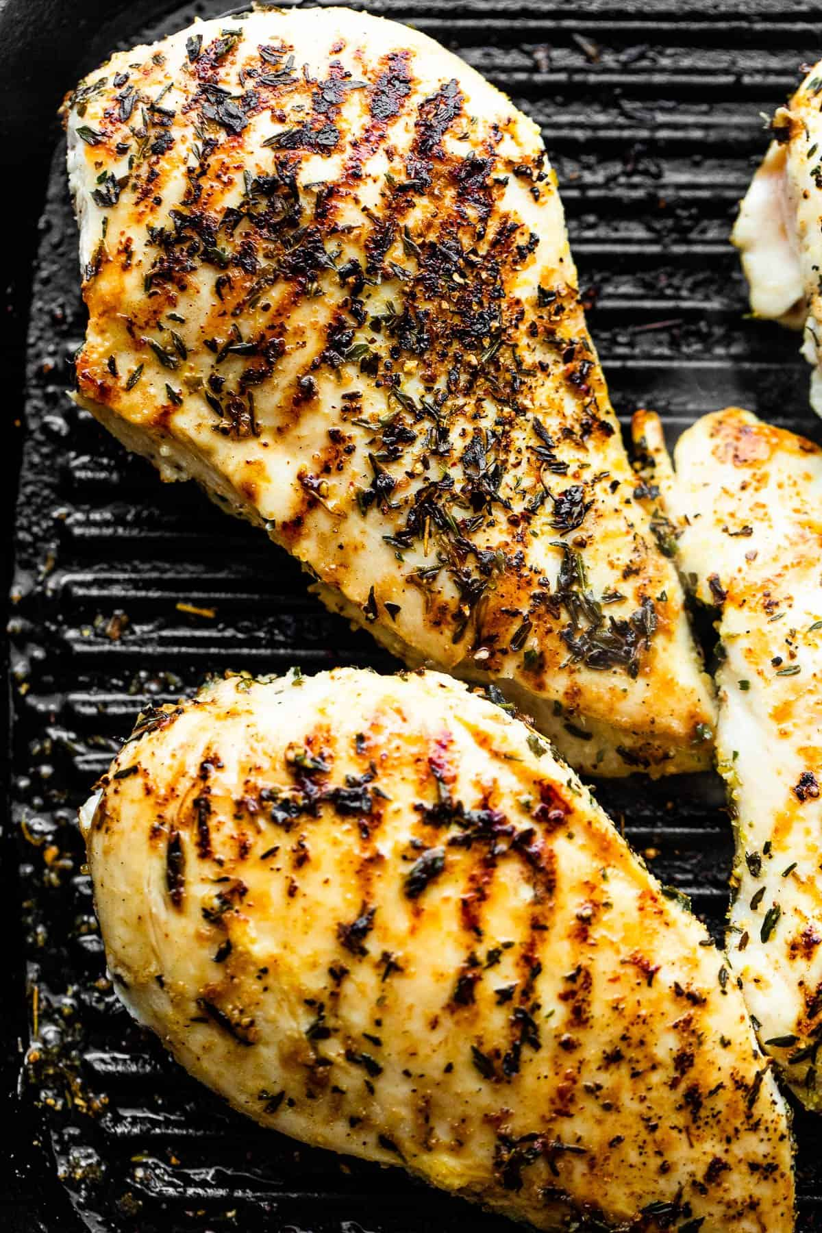 grilling four chicken breasts